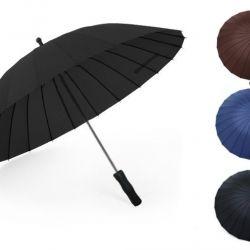 Зонт-трость 24 спицы механический(три цвета)