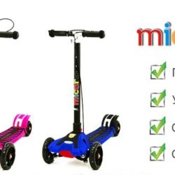 Scooter jogger with Micar shock absorbers
