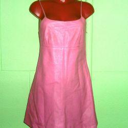 Summer leather dress MOSCHINO