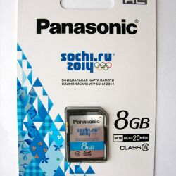 Карта памяти SD 8 Гб, 6 класс (Panasonic)