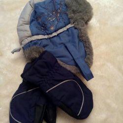 Χειμερινό καπέλο + γάντια