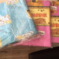 Blanket cover children's new coarse calico size 120х120