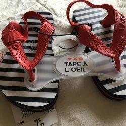 Firm sandals Company tape a l'oeil