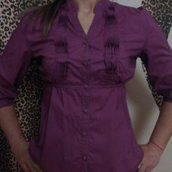 Μπλούζα-πουκάμισο από βαμβάκι 100%