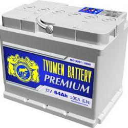 Baterie Tyumen Premium 64 Ah 590 A op. Și p.p.