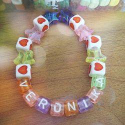 Handmade bracelets any word personal name