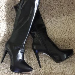 Two-sided leather boots, new Italy, p 37