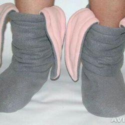 Tavşan terlikleri (bayan ayakkabıları)