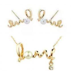 Earrings + pendant