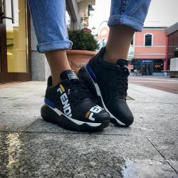 black sneakers FENDI
