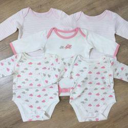 Комплект из 5 боди Mothercare, размер 1-4 месяца