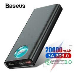 Pil Baseus 20000mAh PD3 QC3 18W Güç Bankası