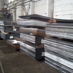 Corrugated and smooth steel sheet