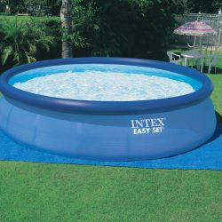 Pool with an inflatable top ring Easy Set intex