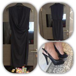 Платье как новое на 42/44 босоножки италия