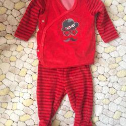 Yeni takım elbise, 6-9 ay (71 cm)