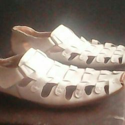 Sandalety shoes. Male 45 years old.