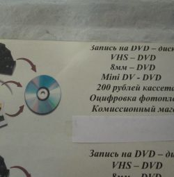 Оцифровка відеокасет і фото + кольоровий ксерокс
