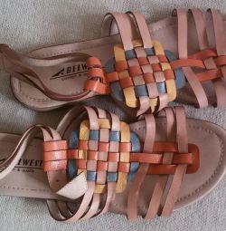 Belwest sandalet, hakiki deri, r-38