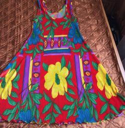 Плиссированное платье р.44-46