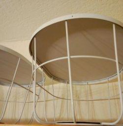Корзина хранения интерьерная белая с крышкой