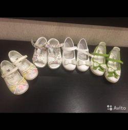 Кожаные сандали и туфли