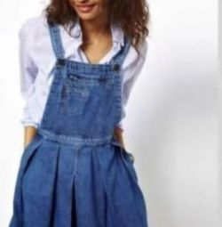 Dress of dense jeans