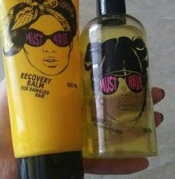 Shampoo and balm for hair restoration