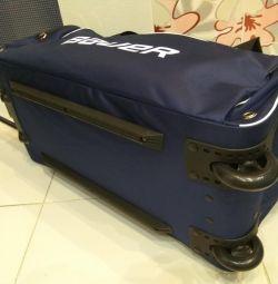 Bauer спортивная сумка на колесах хоккейный баул