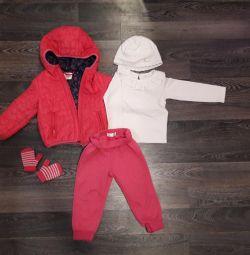 Jacket, pantaloni, pălărie 1,5-2,5 ani