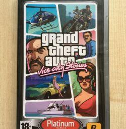 PSP гра grand theft auto vice city stories