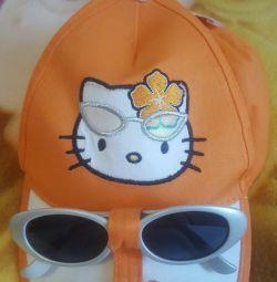Cap cu ochelari Hello kitty. Nou.