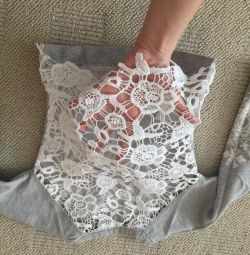 Sweatshirt with lacy back p.98-104
