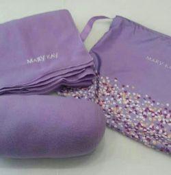 Travel Set: Pillow, Plaid, Bag