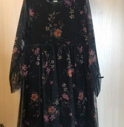 Rochie pentru fete din material textil transparent de la Zara