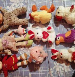 Doldurulmuş oyuncaklar ve bebekler paketi, kızlar için