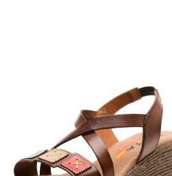 Leather sandals Evita Spain