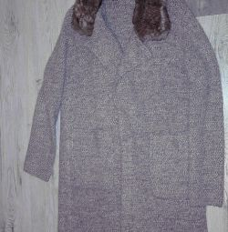 Knitted coat Zara