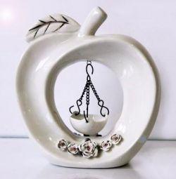 Aroma lampa ceramica Apple