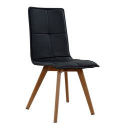 CHARLENE CHAIR HM0193.02 WITH BLACK PU AND METAL