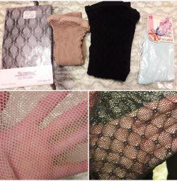Колготки 4 Нові, сітка, шкарпетки