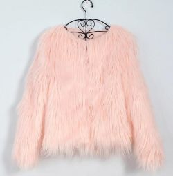 Eco fur coat new
