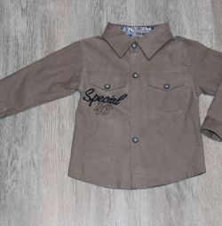Νέο μίνι βελούδο πουκάμισο