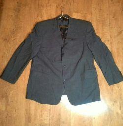 Costum (sacou și pantaloni) mascul gri