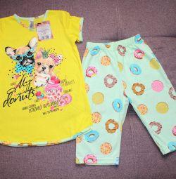 Pajamas new 122 cm