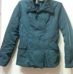 Куртка утеплeнная темно-зеленая. 42-44 р-р.