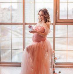 GENTLE PREGNANT DRESS.