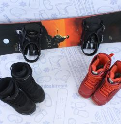 Сноуборд 130 crazy creek + крепления + ботинки