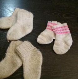 Șosete de iarnă tricotate