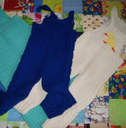 Overalls for children knitted (pants)